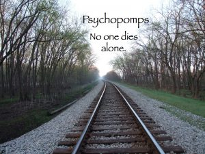 title page to Psychopomps: No One Dies Alone