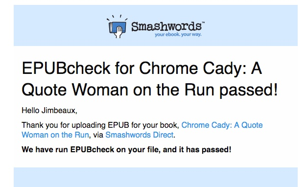 epub passed the Smashwords validator
